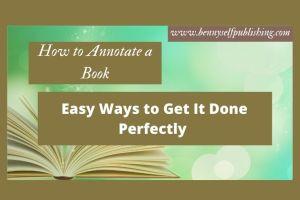 Annotate a Book