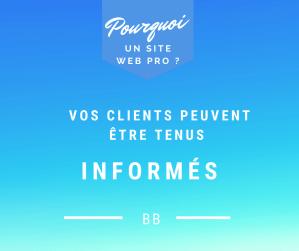 Clients informés