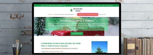 Ecran PC sapin de noel Rennes