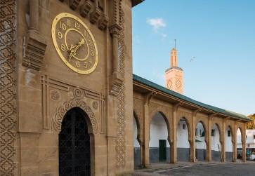 Mosquée Sidi Boubaid, Clock Tower in Grand Socco - Place du 9 Avril 1947, Medina, Tangier, Morocco, North Africa