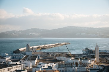 View of The Port from the Kasbah, Medina, Tangier, Morocco, North Africa