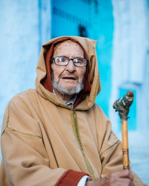 Portrait of local man, Chefchaouen, Morocco, North Africa