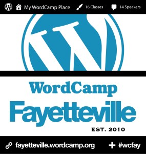 Logo for the 2016 Fayetteville WordCamp