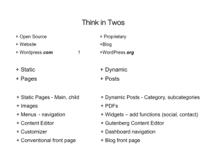 The Twos Chart for the 2017 WordPress 101