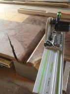 long miter with the track saw