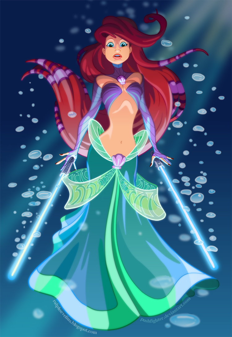 What if Disney Princesses were Jedi Bounty Hunters in