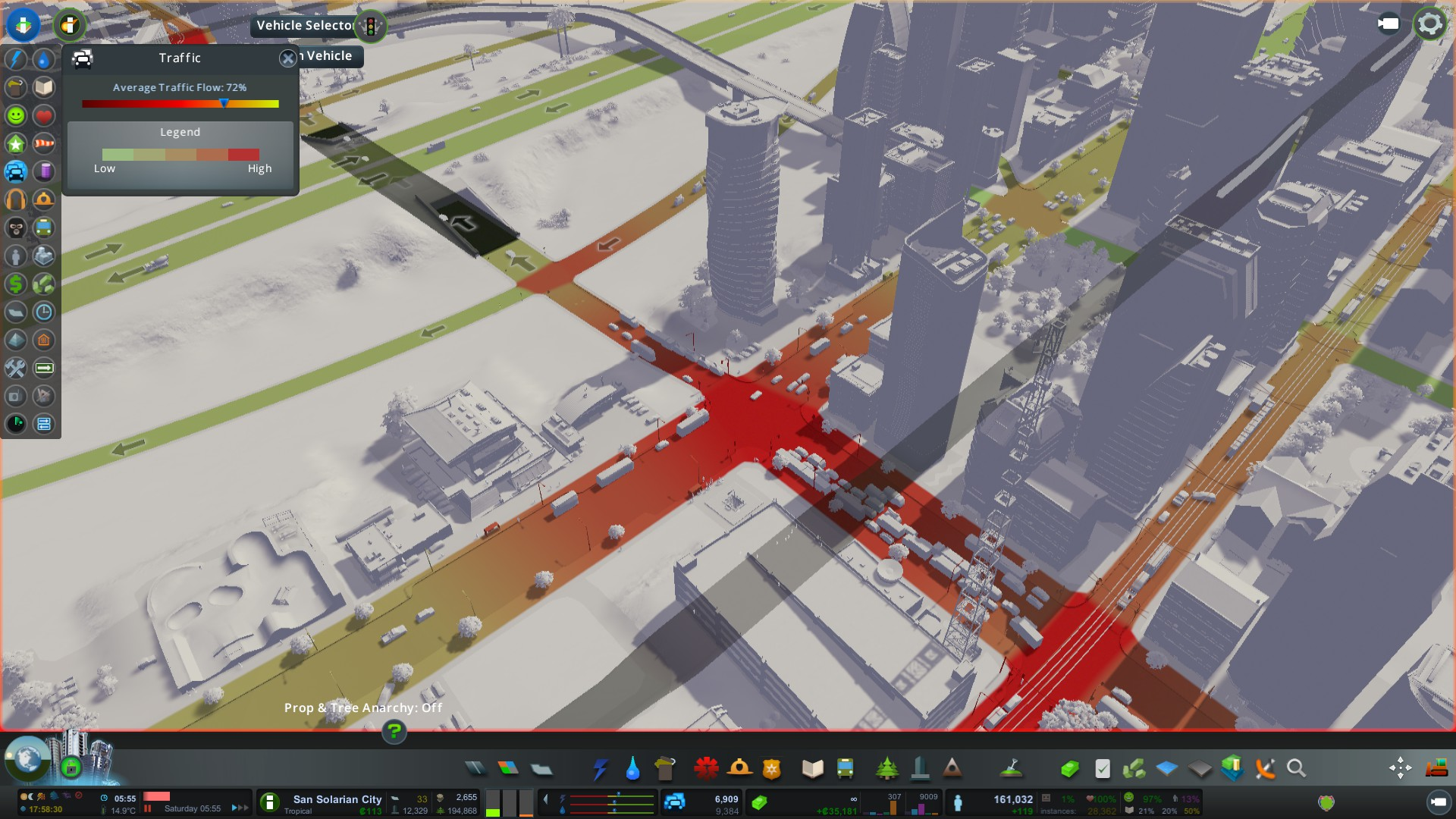 #CitiesSkylines Traffic Routes Map Management. Help?