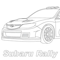 Coloring pages Subaru WRX STI