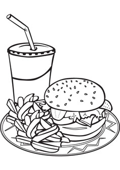 Fast Food Coloring Pages : coloring, pages, Download, Coloring