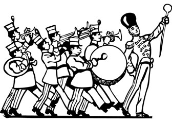 Marching band coloring drawing