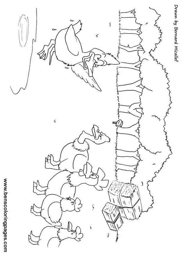 Chicken Licken Printables Sketch Coloring Page