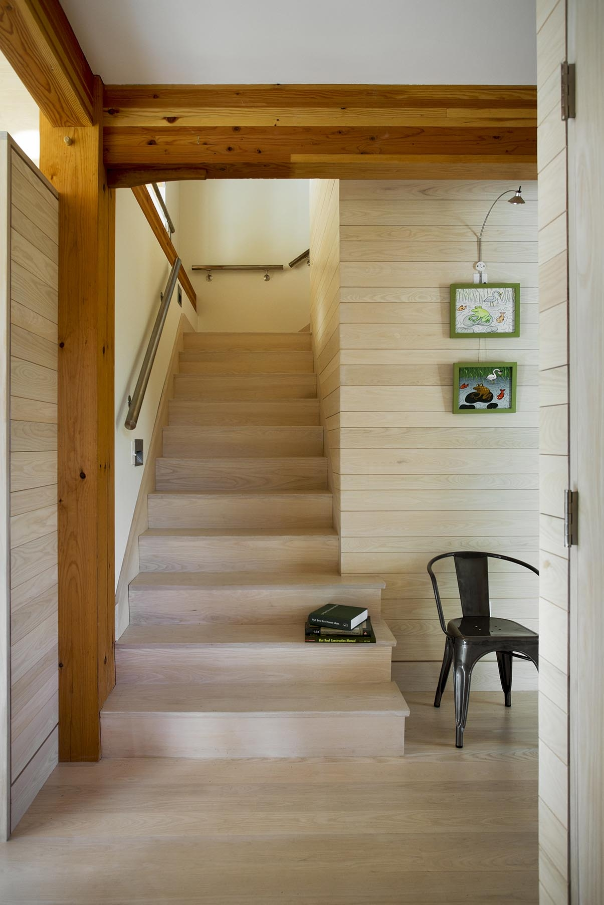 Style Guide For Stairs Bensonwood | Converting Spiral Staircase To Straight | Stair Case | Building Regulations | Handrail | House | Attic Stairs