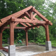 Outdoor Kitchen Frame Roman Shades For Spidahl Woodworks Designed And Contracted By Blue Ox Timber Frames Cut Assembled