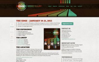 EDGE Conference 2013 Website