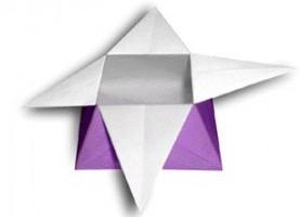 折り紙で簡単に豆箱その2