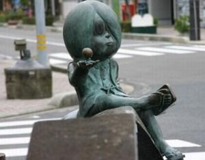 水木しげるロードの鬼太郎ブロンズ像