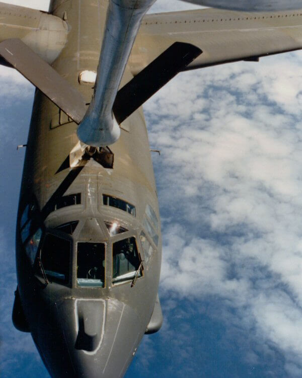 B-52 getting fuel on the way to Australia