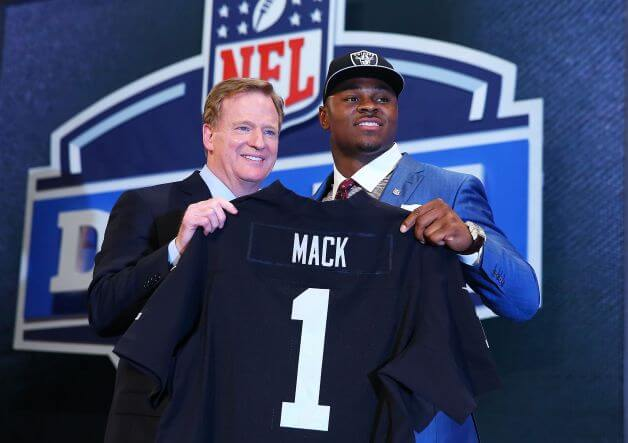 I hope Khalil Mack doesn't mind playing football on dirt