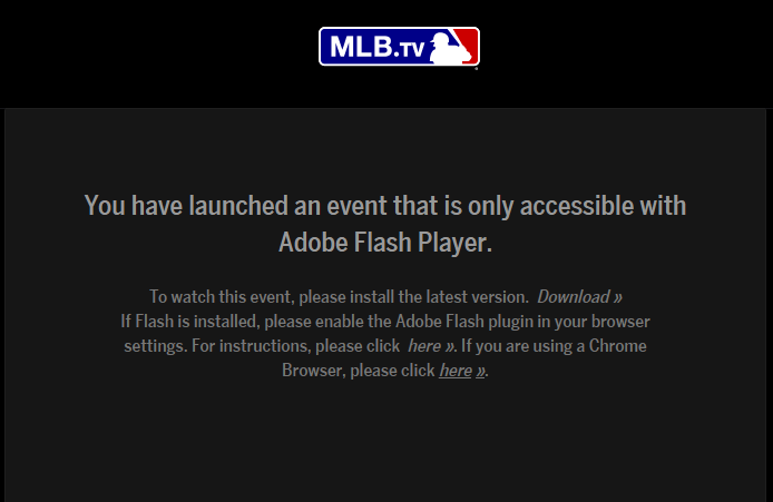 How to fix MLB streaming on Windows 10