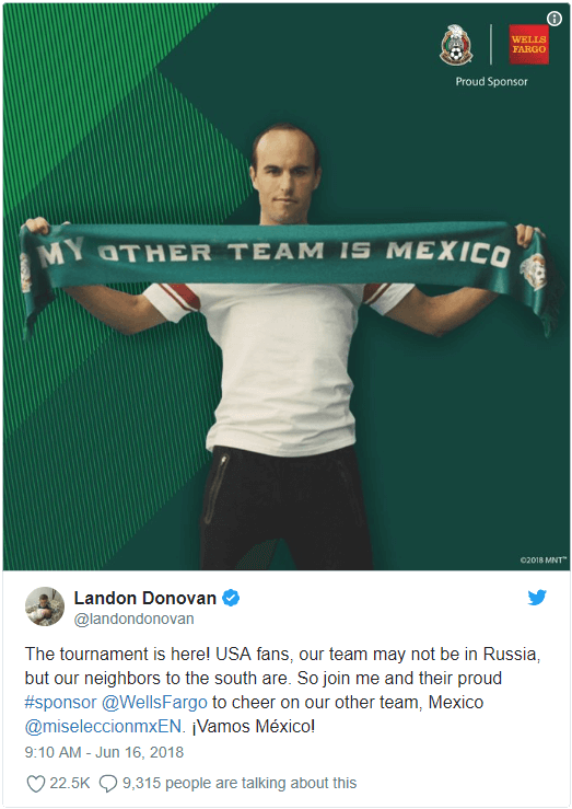 Landon Donovan's other 'team' is Mexico? - Bent Corner