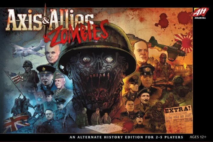 'Axis & Allies & Zombies', a board game for 2-5 players
