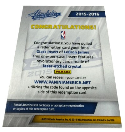 Card collector sues Panini America over redemption cards - Bent Corner