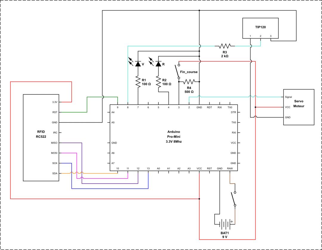 Schéma - Serrure NFC