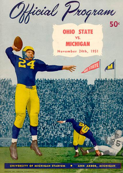 Art of Football 19501959 University of Michigan Athletics