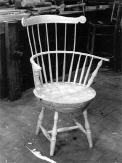 revolving chair used ethan allen wingback slipcovers windsor project guides the woodwright s shop adapted from thomas jefferson while composing declaration of independence