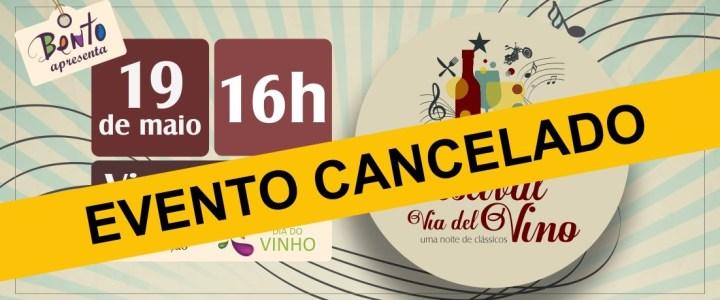 Festival Via Del Vino é cancelado devido à previsão de chuva