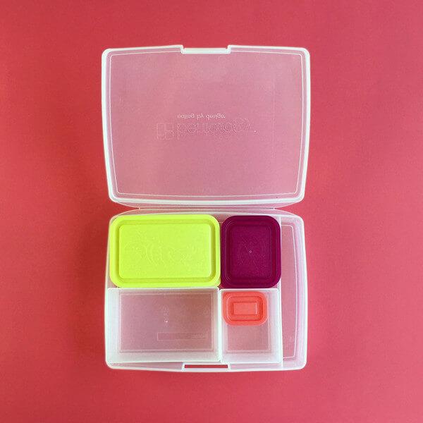 Bentology Bento Box Set - Classic 6 Pc. Lunch Box - Fruit