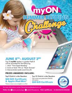 2018 myON Summer Reading Challenge Flyer