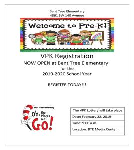 VPK Registration Flyer 2018-2019