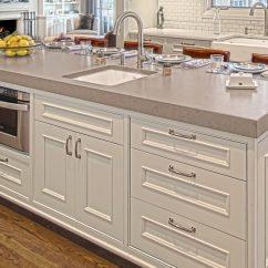 Kitchen Island Counter Oak Large Profile Tops Benvenuti And Stein Glencoe