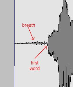 vocals first breath