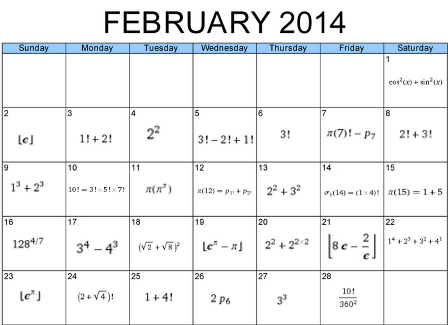 Worksheet Calendar February