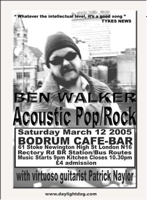 Ben Walker Gigs poster 2005