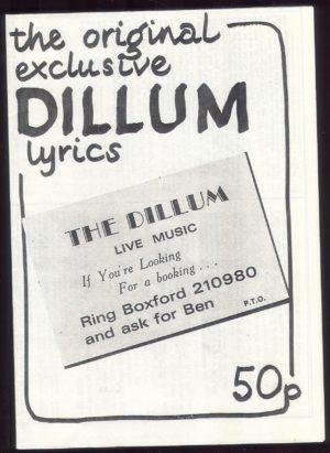 Lyric booklet 1984