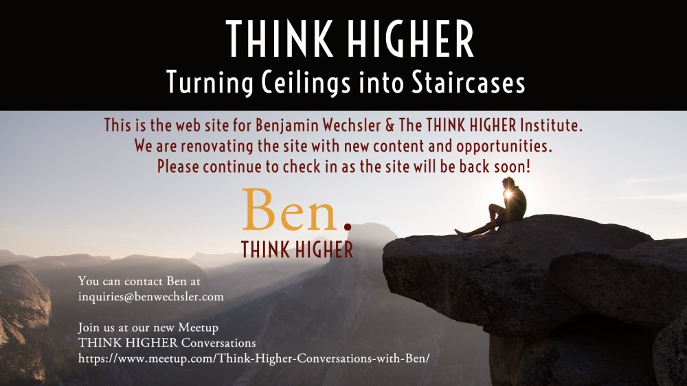 Benjamin Wechsler | THINK HIGHER | Turning Ceilings into Staircases