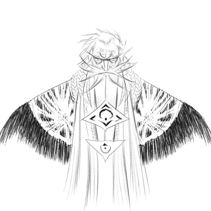 Merlin sketch by Ian Greenlee