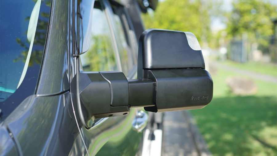 MSA 4X4's towing mirror can be re-positioned to suit towing or non-towing. (image credit: MSA 4X4)