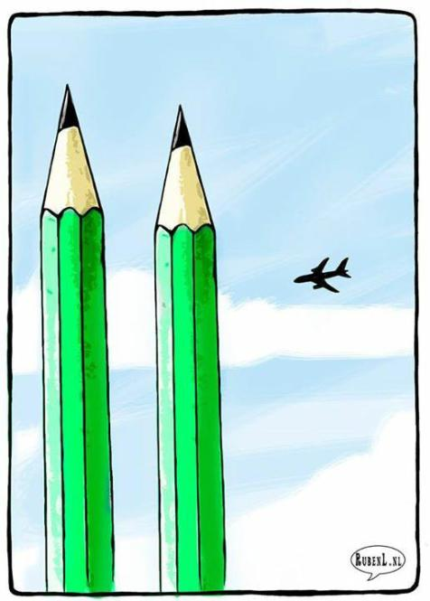 Ruben Oppenheimer posted this cartoon on his twitter account with the hashtag #CharlieHebdo