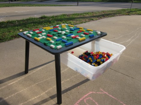 Repurposed Table for use with Lego