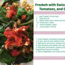 Freekeh and Swiss Chard Recipe card