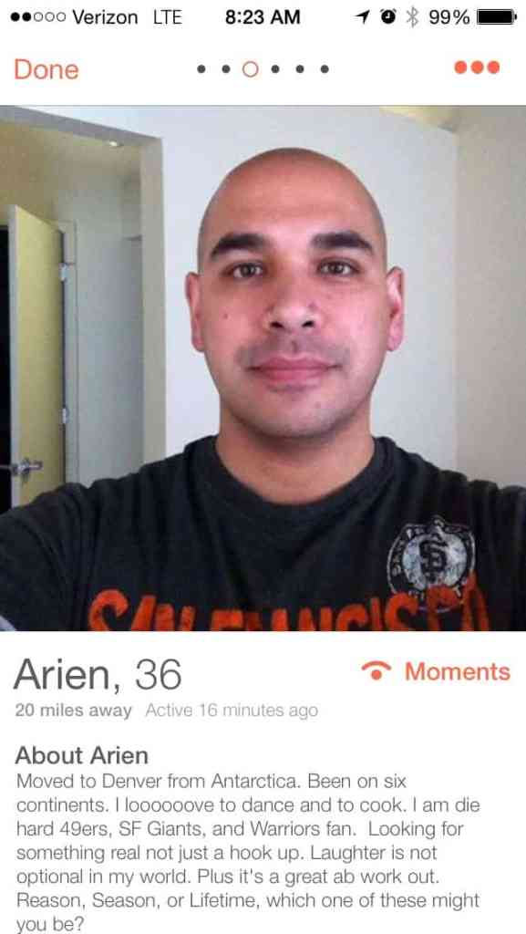 Oh yeah, I swiped right. <3