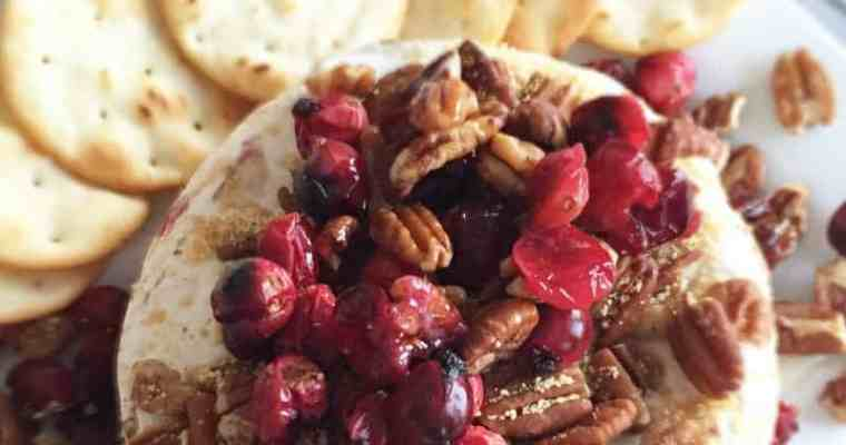 Baked Brie with Cranberries, Pecans, and Honey