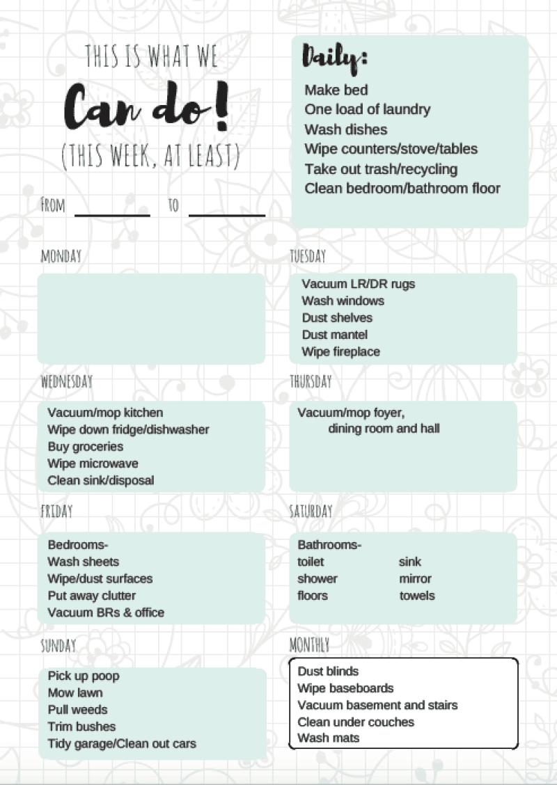 Chores and Allowance Chart