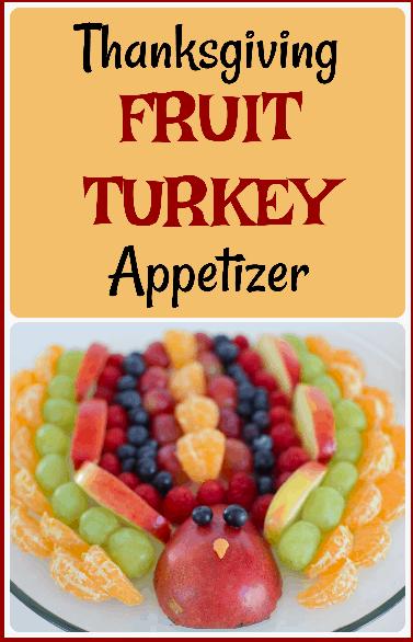 Fruit Turkey Appetizer thanksgiving recipe healthy food