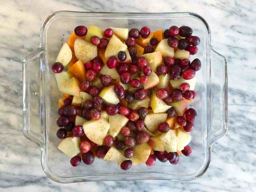 baked sweet potato cranberry apple whole30 compliant recipe