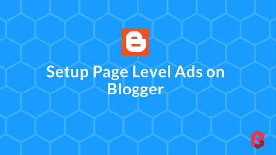 Adsense page level ads blogger